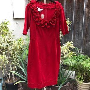 Laggy London Red Dress Sz 8 New